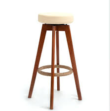wooden round bar stools wooden swivel bar stools modern brown finish round leather foam seat backless wooden round bar stools