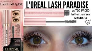 loreal lash paradise review better than dupe ladylucktutorials