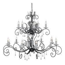 chandelier black silver