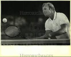 1986 Press Photo Trinity University tennis coach Butch Newman ...