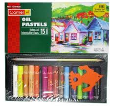 picture of camel oil pastels set 15 shades