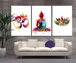 watercolor art 3 panel buddha wall art canvas print buddha om symbo extra large wall art canvas print on om symbol wall art with watercolor art 3 panel buddha wall art canvas print buddha om