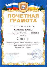 Достижения учащихся муниципальный уровень  2010г Диплом команды ЮИД занявшей
