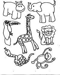 Disegni Da Colorare Animali Della Savana Migliori Pagine Da