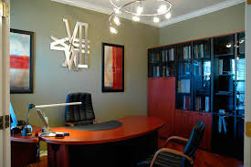 small office design images. small office design decorated with modern furniture using leather chair and unique chandelier lighting images