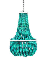 wooden bead chandelier turquoise wood lighting intended for bali