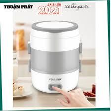 Hộp cơm cắm điện YONSA, nấu chín, hâm nóng và giữ nhiệt cho thức ăn, sử  dụng inox 304 - Nồi cơm điện Nhãn hàng No Brand