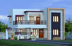 2082 sq.ft Flat Roof Home Design