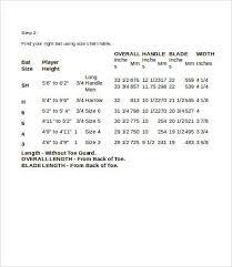 bat size chart bat size charts 9 free word pdf documents download free