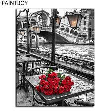 best red rose wall art framed pictures painting by numbers handwork canvas oil painting home decor for living room gx9754 under 24 37 dhgate com