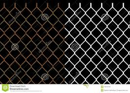 Rusty Wire Chain Link Fence Stock Illustration Illustration of