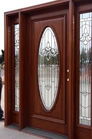 exterior door with oval glass
