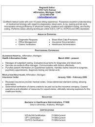 Resume Format For Medical Billing Unique Sample Medical Coding