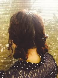 お団子の髪型が可愛いアレンジ簡単なセルフおだんごスタイルhair