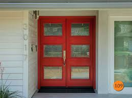 red double front doors.  Red Modern 60 On Red Double Front Doors H
