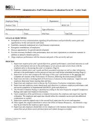 Performance Evaluation Sample 24 Free Appraisal Template Samples Examples Formats Download 23