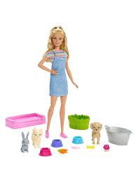 <b>Набор игровой Barbie</b> Семья Кукла с любимыми питомцами и ...