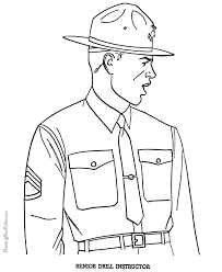 Free Military Coloring Pages 001