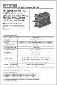 Pneumatic Cylinder Size Chart Large Bore Jis Pneumatic Cylinder Noco Reign