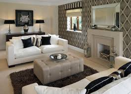 modern white living room furniture. Unique Living Modern Look Living Room Features White Sofas With Dark Decorative Pillows  Facing Over Rectangular Grey Ottoman And White Living Room Furniture