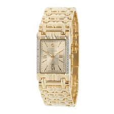 mens gold square dial bracelet watch jcpenney com personalized dial mens diamond accent square gold tone watch