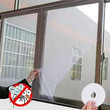 1.3M*1.5M <b>Self</b>-<b>adhesive</b> Anti-<b>mosquito</b> Net Flyscreen Curtain <b>Insect</b> ...