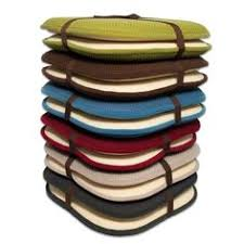 dining chair cushions brown pad memory foam honeyb nonslip back chair sweet home collection