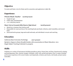 Music Teacher Resume Examples Objective To Create And Foster A Love Impressive Resume Playing Music