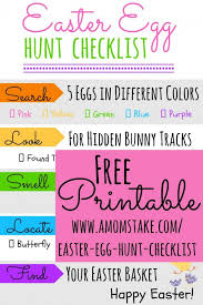 easter egg hunt template printable easter egg hunt checklist a moms take