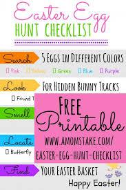 easter egg hunt template printable easter egg hunt checklist a moms take