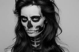 skull half face makeup hair and outfit easy adver