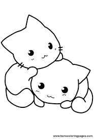Small Picture Cute cat coloring pages to download and print for free