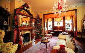 Decorating Room With Posters 1680x1050 New Year Fireplace Decor Fir Tree Light Christmas