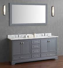 gray double sink vanity. anele 72 inch gray double sink bathroom vanity set d