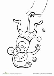 Small Picture Trapeze Monkey Worksheet Educationcom