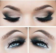 blue eye makeup smokey eyes and eyeliner