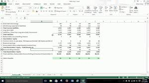 Pro Forma Balance Sheet Percent Of Sales Excel 2013