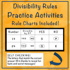 Divisibility Rules Chart Pdf Divisibility Rules Chart Worksheets Teaching Resources Tpt