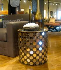 round mirror side table gelishment home ideas brighten your room with mirrored side table