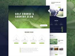 Golf Course Website Design Golf Course Landing Page Design For Divi By Sayeed Ahmad For