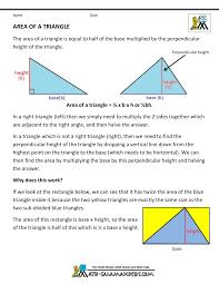Math Formula Chart For Geometry Geometry Formulas Triangles