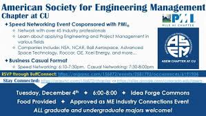 American Society For Engineering Management Speed Networking Event