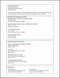 College Students Resume Format New Resume Templates Activities