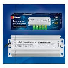 <b>Блок питания</b> для светодиодов <b>UNIEL</b> UET-VAJ-060A67 , 60Вт ...