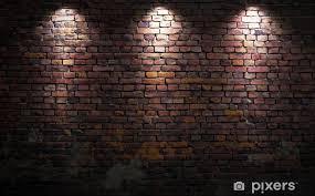 brick wall with lights wall mural