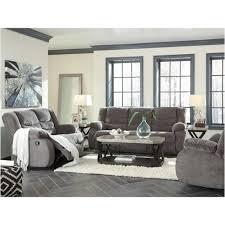 Ashley Furniture Tulen Gray Living Room Reclining Sofa