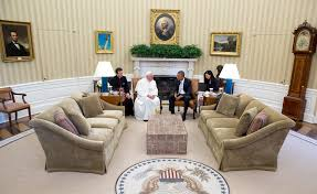 the oval office white house. Us President Office. Obama Meets With The Pope. (official White House Photo Oval Office