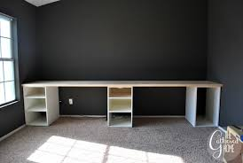 how to make office desk. exellent desk how to make diy ikea hack desk with plank top  file cabinets instead would  do and office a
