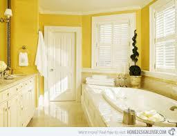 yellow bathroom