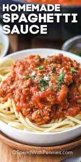homemade spaghetti sauce spend with